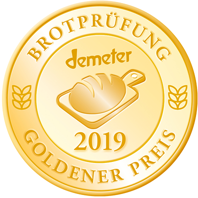 Brotprüfung Medaille Gold
