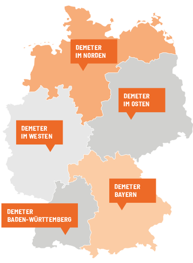 Karte Oberbayern Regionen.Regionen Demeter E V