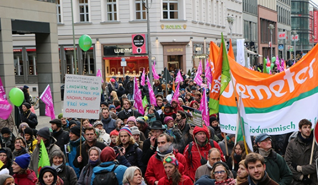 Demonstrationszug in Berlin
